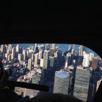 View out the window with Chicago Helicopter Experience
