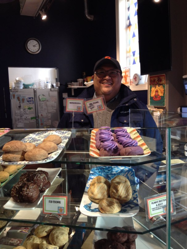 Joe behind the counter