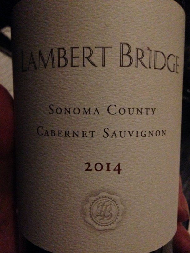 Sonoma Lambert Ridge 2014 Cab