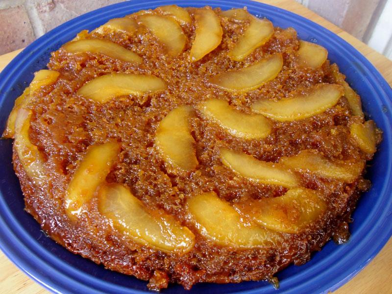 Pear Upside-Down Cake Recipe | Food Apparel