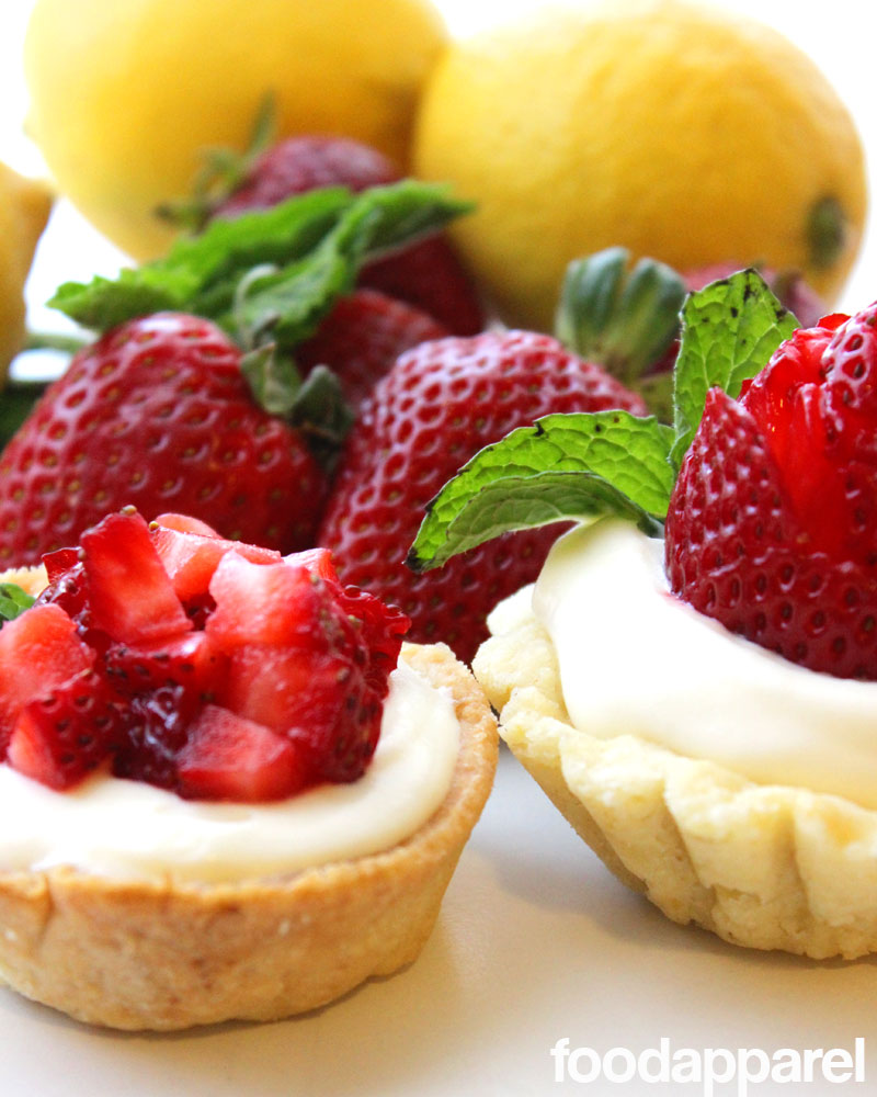 Lemon Strawberry Shortcake Cups (with Sweet Ricotta and Minted Lemon Curd): Gourmet Style