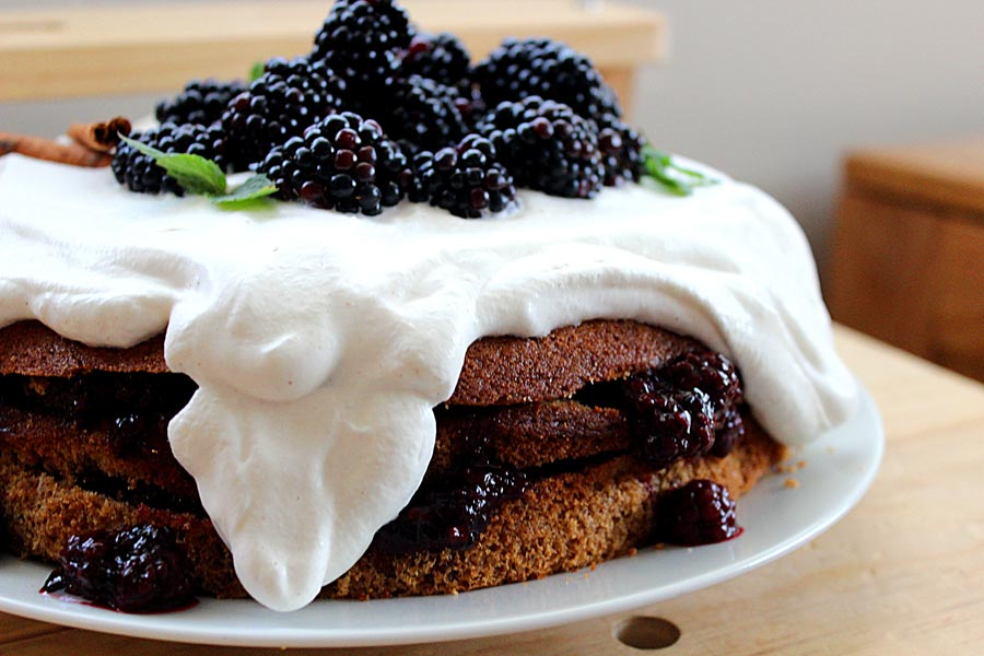 Spice Cake With Blackberry Filling And Cream Cheese ...