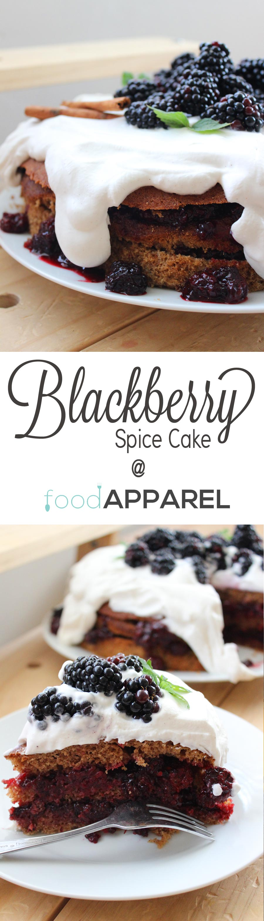Spice Cake with Blackberry Filling and Cinnamon Whipped Cream Recipe ...