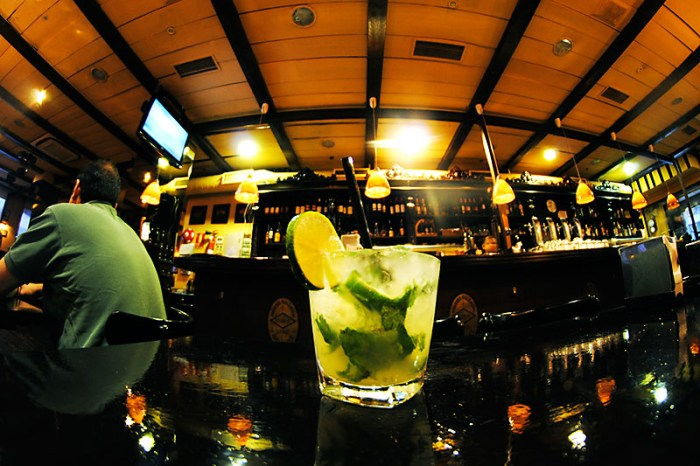Mojito cocktail in bar