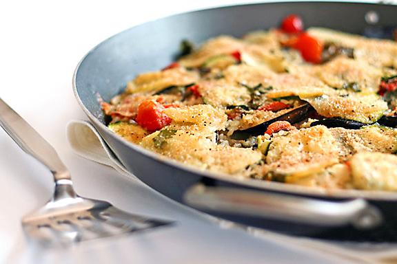 A dish of traditional Sardinian Tiella
