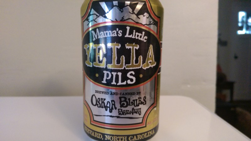From Oskar Blues Brewery, Mama's Little Yella Pils is a small batch Pilsner made in the tradition that made Pilsen, Czech Republic famous for beer.