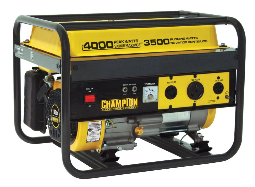 The Champion Power Equipment Model 46533 rated at 4000 peak watts with a running wattage of 3500