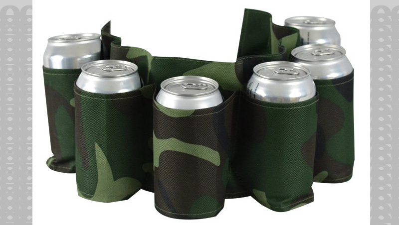 Avoid that uncomfortable lucid feeling while on the go with this portable 6 pack holder.
