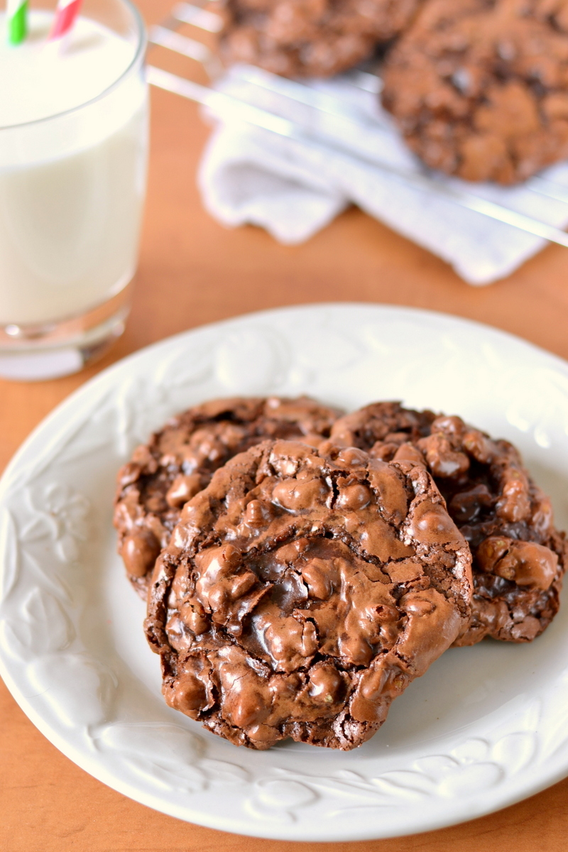 Flourless Chocolate Puddle Cookies