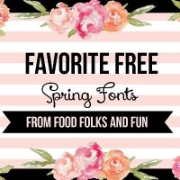 Favorite FREE Spring Fonts