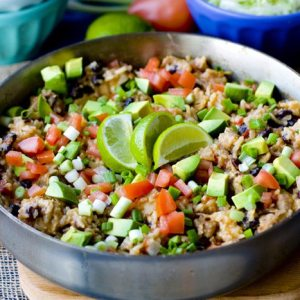 One Pot Chicken Burrito Bowls Recipe