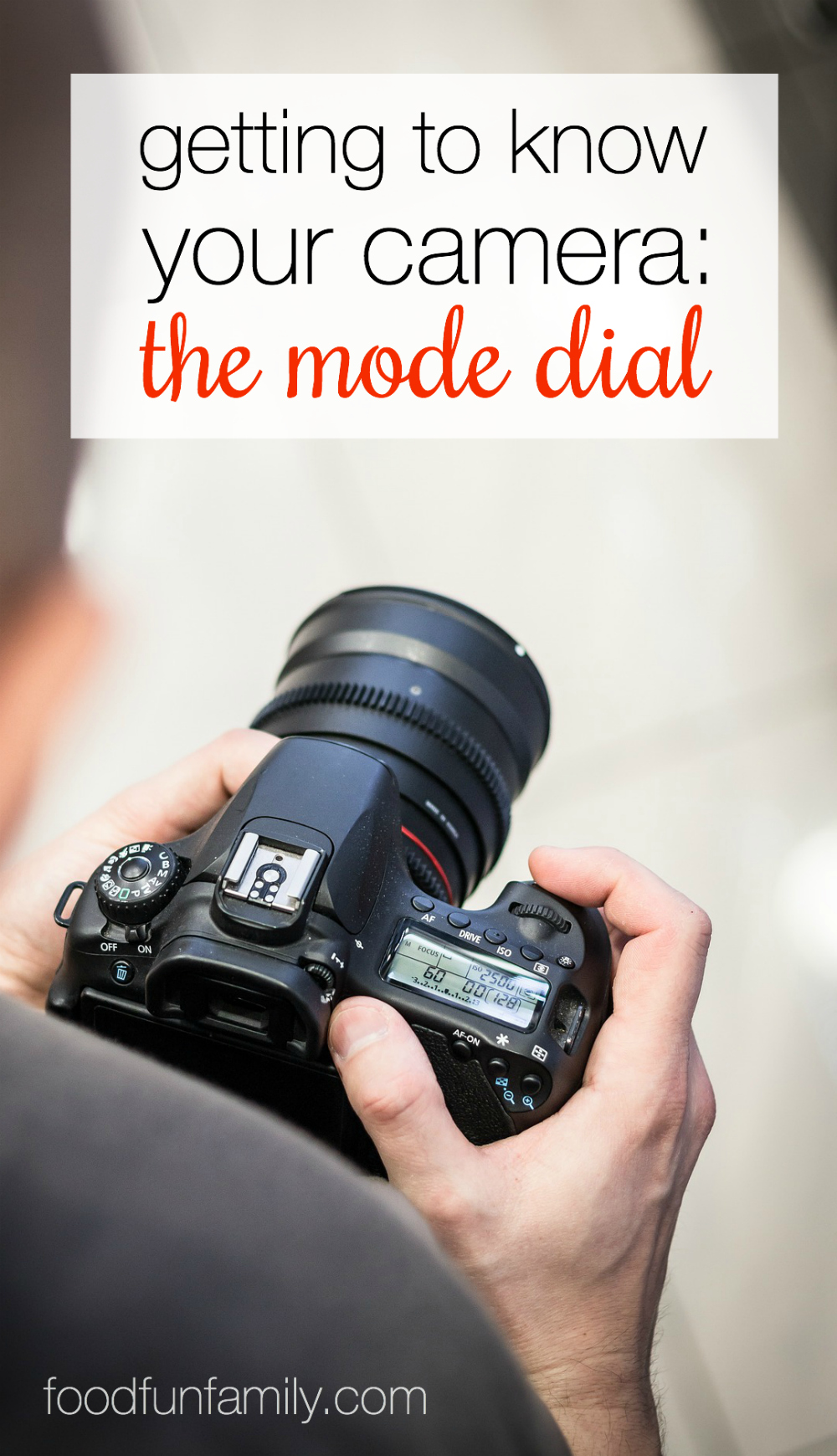 Getting to know your camera: the mode dial. Want to improve your photography? It starts with getting to know your camera and what all of those icons mean!