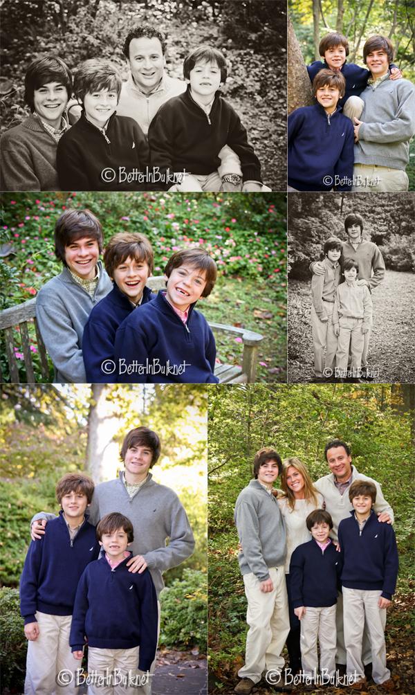 Family photo shoot with 3 boys