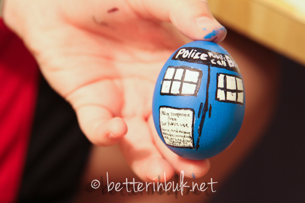 Dr. Who Tardis Egg