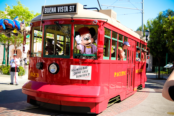 Buena Vista Street Disney California Adventure trolley