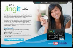 jingit reloadable Visa Card
