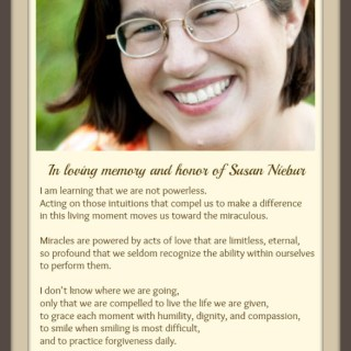 We Are Not Powerless… {In Honor of Susan Niebur}