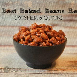 The Best Baked Beans Recipe Ever {Kosher and Quick!}