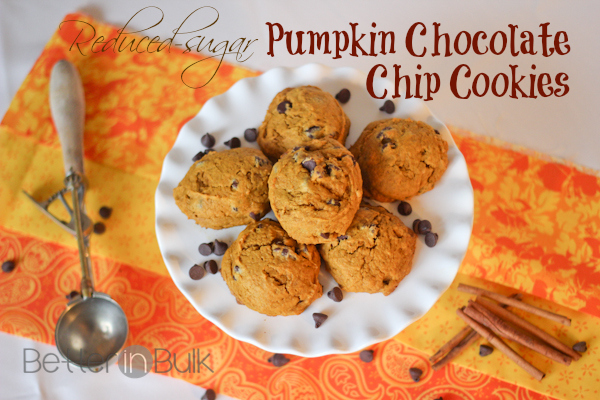 Reduced-sugar pumpkin chocolate chip cookies with Truvia®