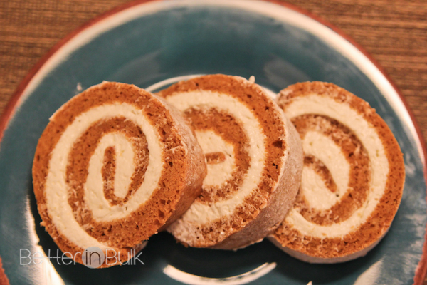 Pumpkin Roll With Cool Whip-Cream Cheese Filling