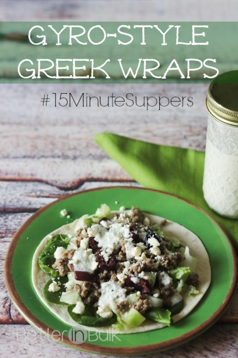 Gyro-style greek wraps