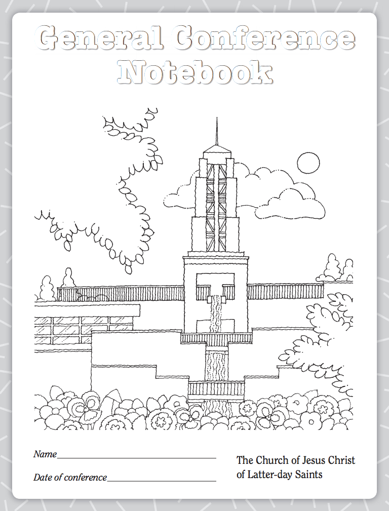 lds conference notebook from ldsorg lds general conference squares lds general conference coloring pages - General Conference Coloring Pages