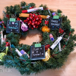 DIY Holiday Teacher Wreath #HandmadeHolidays