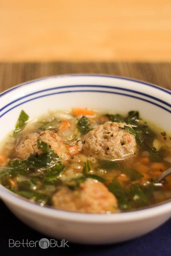 Easy Italian Wedding Soup MeatballMasters