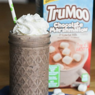 Light Cookies and Cream Chocolate Milkshake