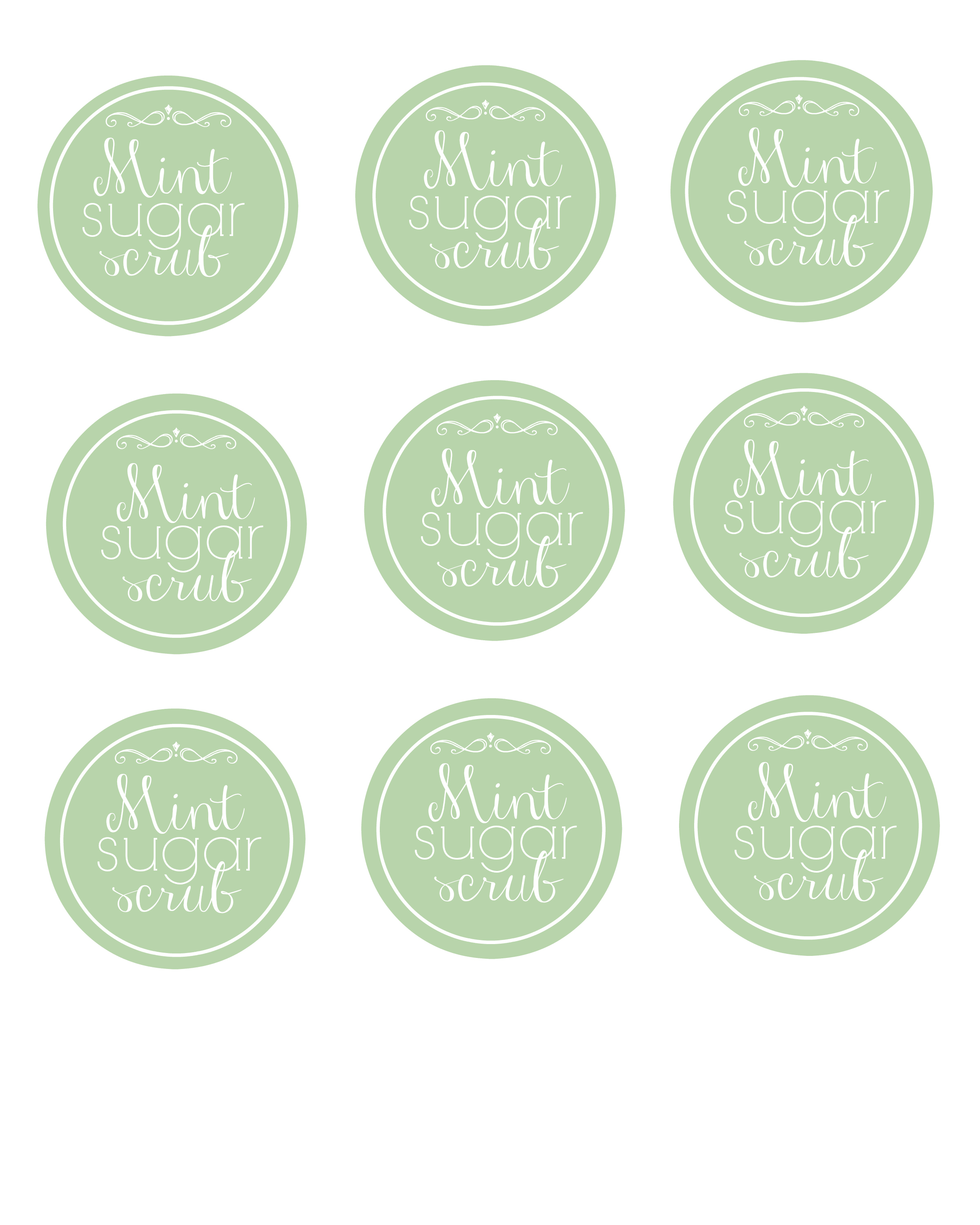It's just a graphic of Versatile Printable Sugar Scrub Labels