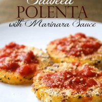 Sauteed Polenta with Marinara Sauce