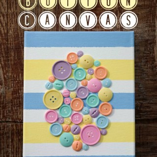 DIY Spring Easter Egg Button Canvas