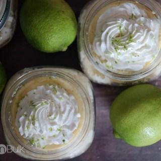 Mason Jar Mini Key Lime Pies