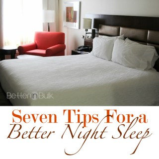 7 Tips For a Better Night Sleep #CommitToSleep