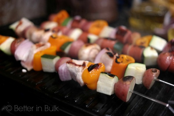 15-minute grilled kabobs - these are so easy and so good, and best of all, everyone can customize their kabob with the things they like the best! As a mom, I LOVE meals like this because it means everyone finishes their food!