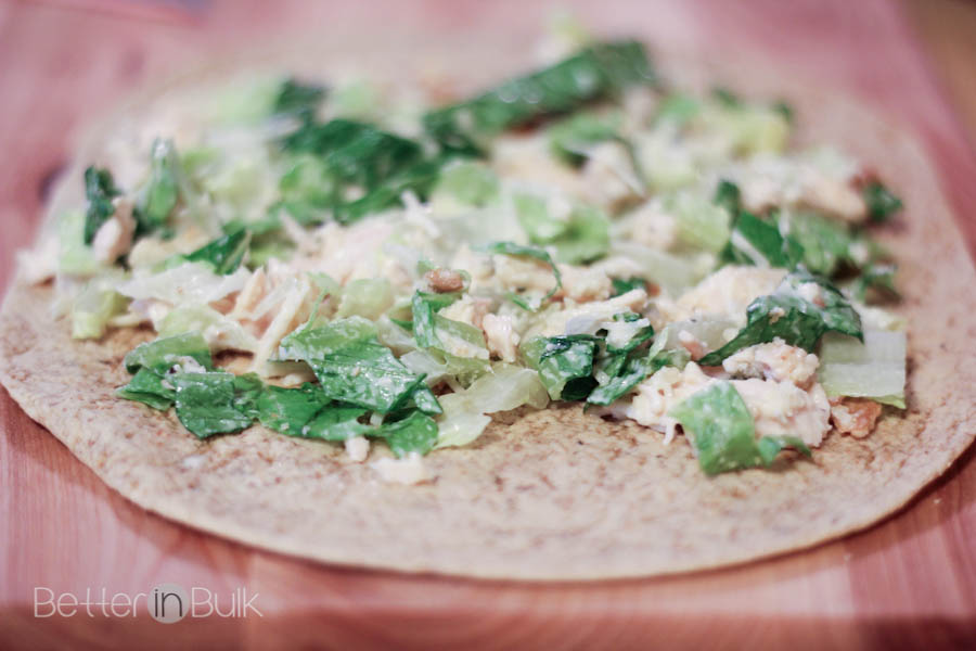 Chicken Caesar Salad Pinwheels recipe by Food Fun Family