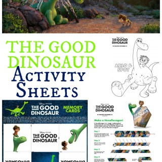 The Good Dinosaur Activity Sheets