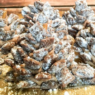 "Snowy ""Muddy Buddy"" Chocolate Pinecones"