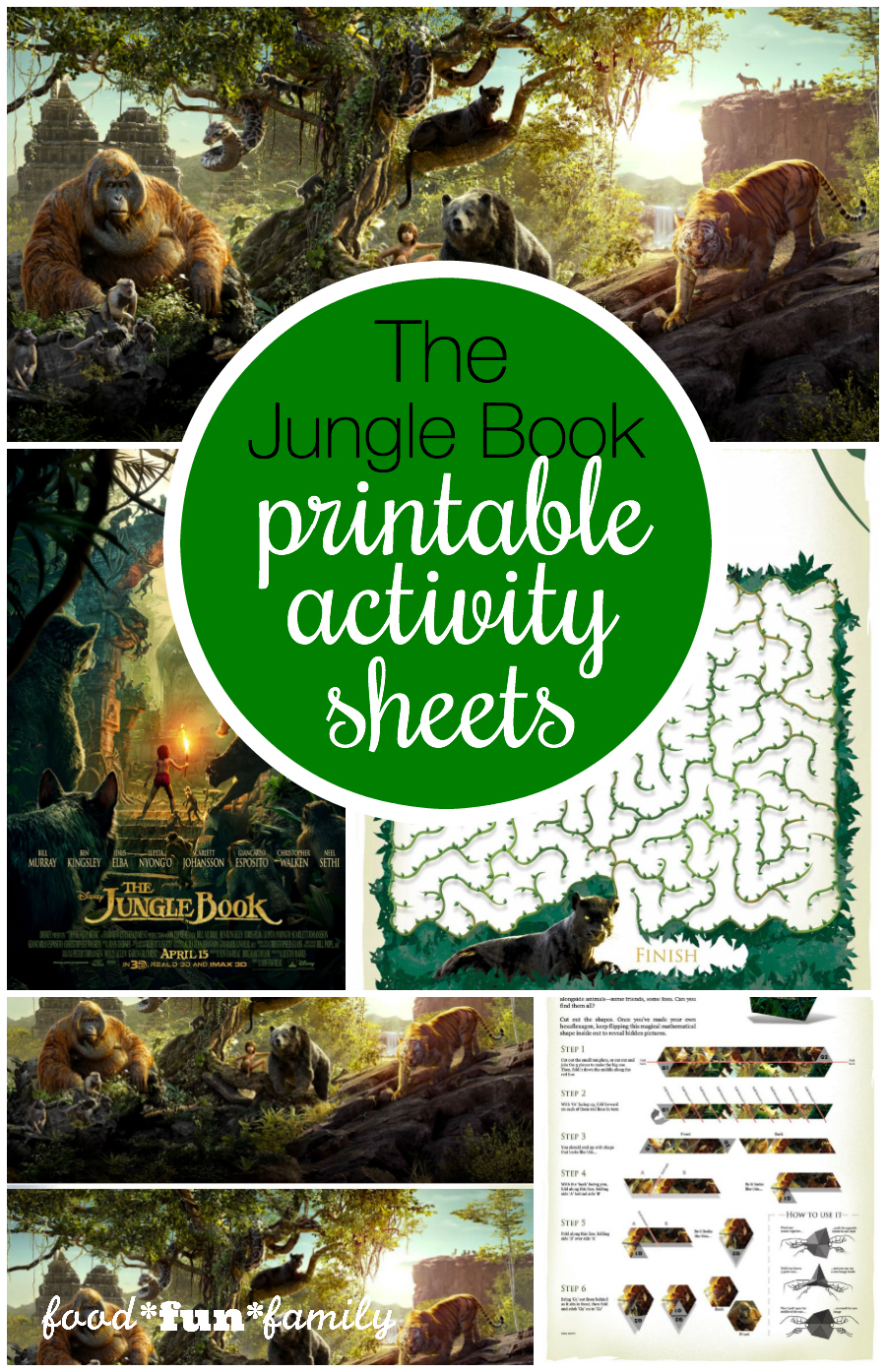 The Jungle Book Printable Activity Sheets