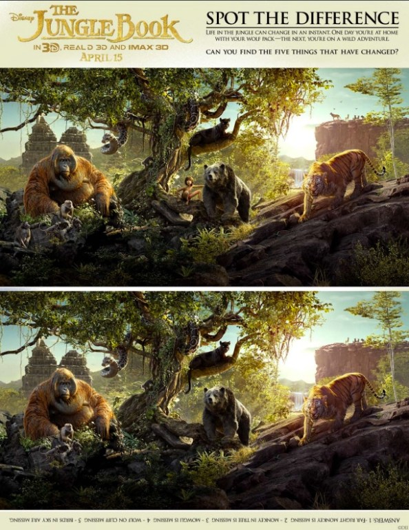 Jungle Book spot the difference