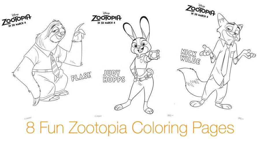 Coloring Page Zootopia : Disneys zootopia movie review printable activity pages