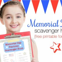 Memorial Day Scavenger Hunt for Kids