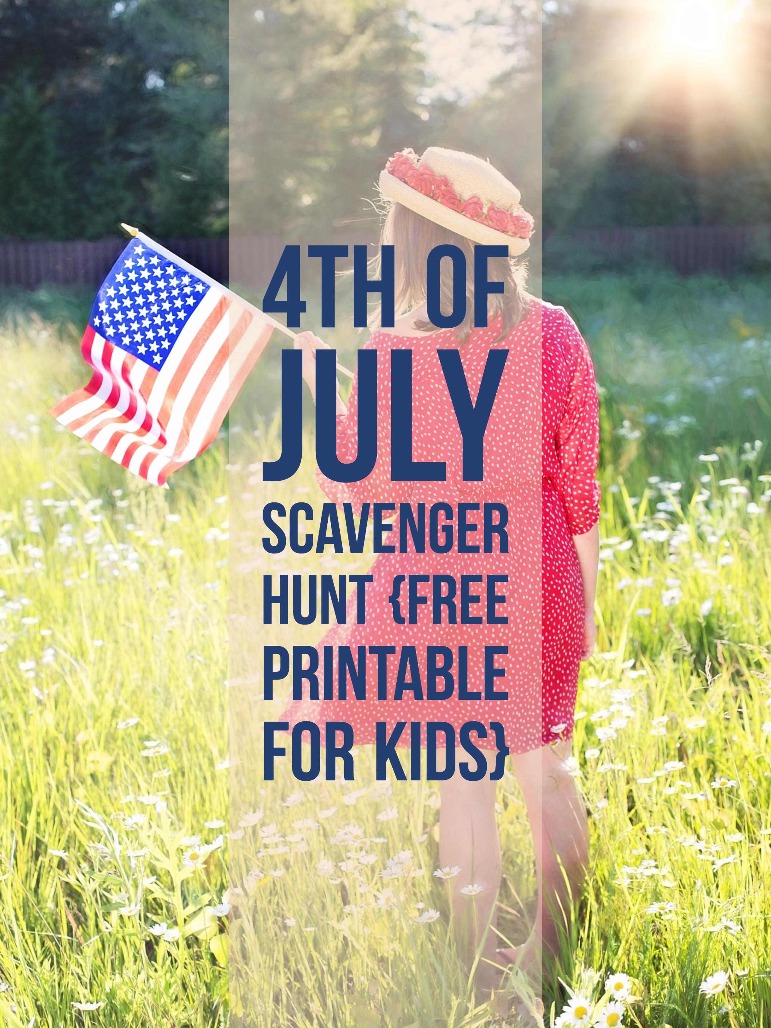 4th of July Scavenger Hunt for Kids from Food Fun Family