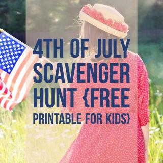 4th of July Scavenger Hunt for Kids {Free Printable}