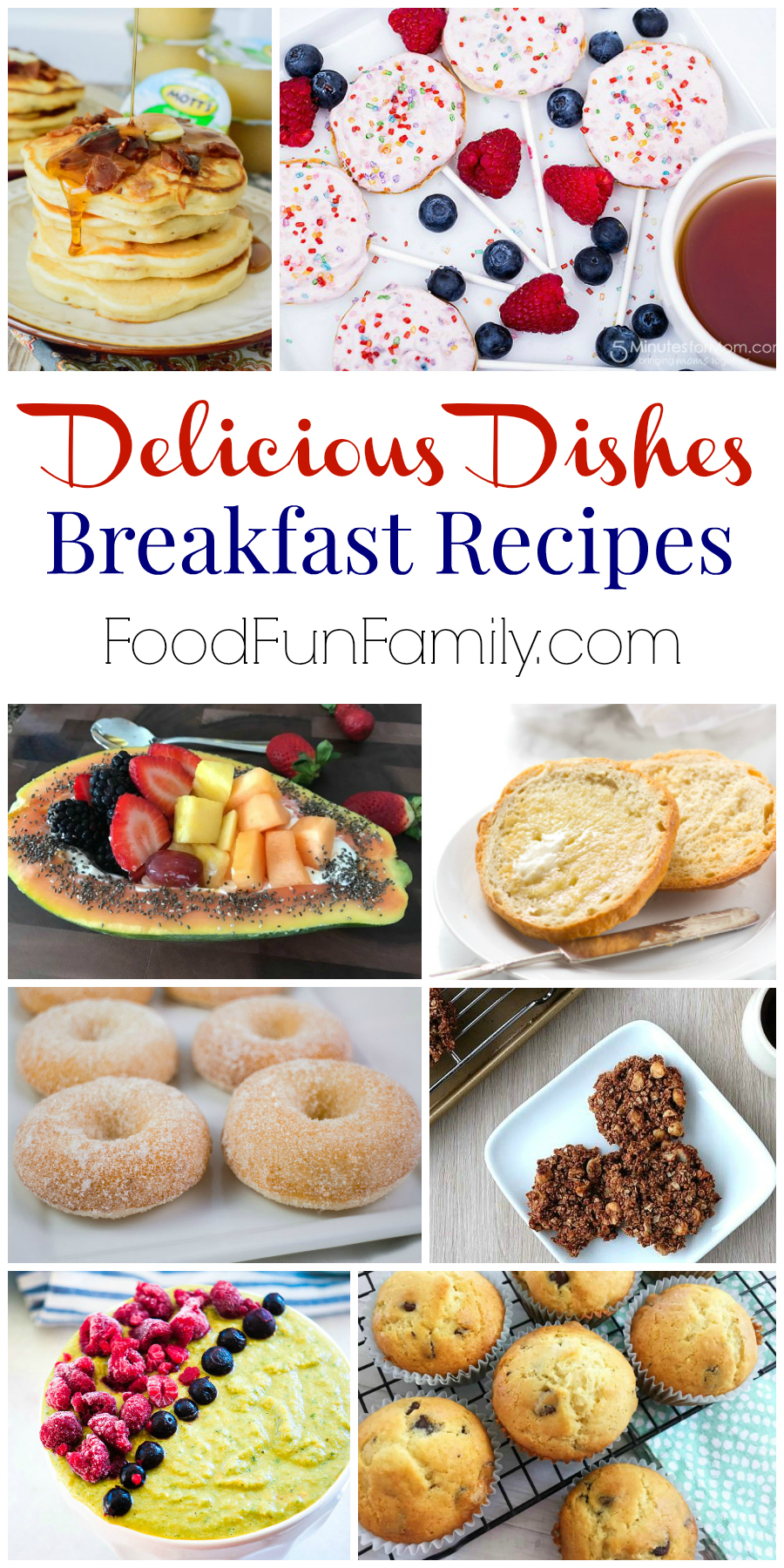 Delicious Dishes breakfast recipe collection from Food Fun Family