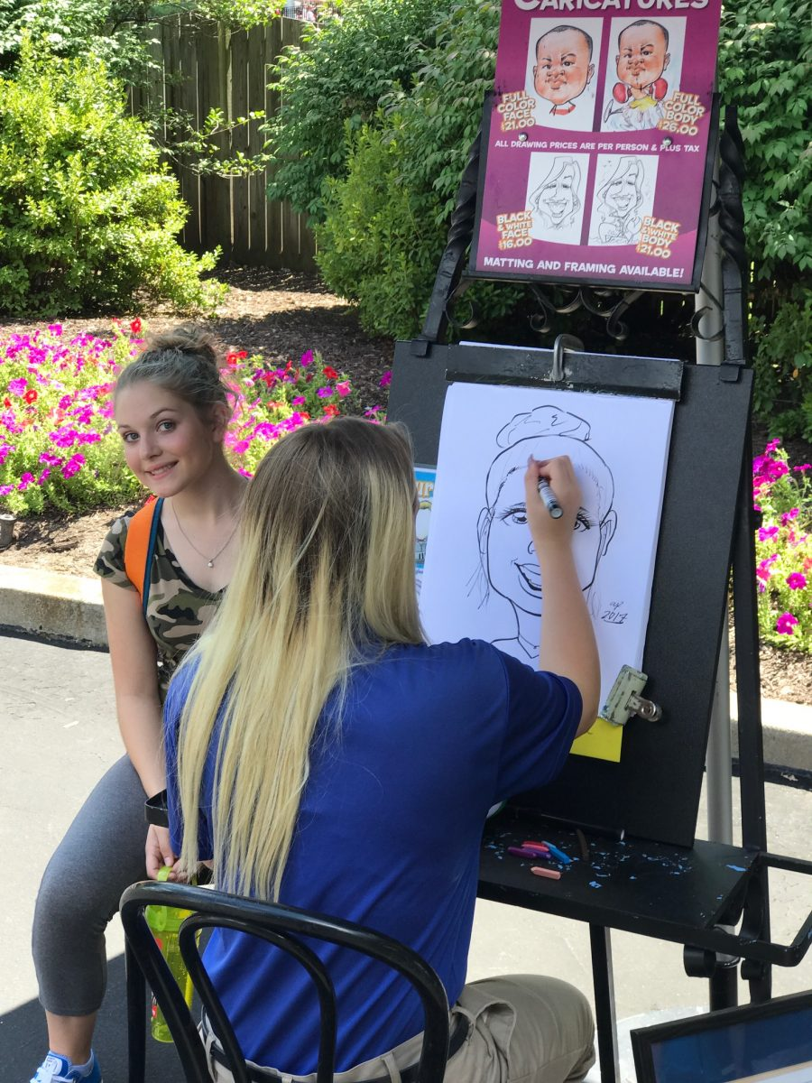 Caricature Drawings at Kings Dominion