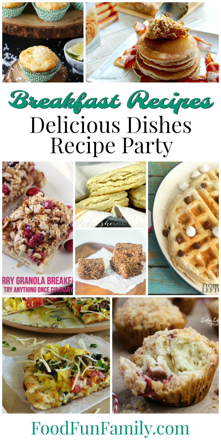 Breakfast Recipes - tasty dishes to make for breakfast and brunch! Delicious Dishes recipe party