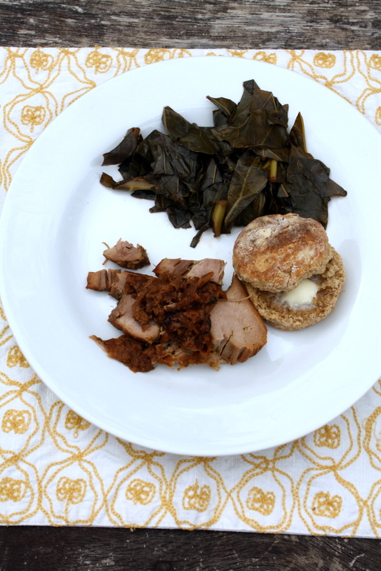 Pork, Greens, and a Biscuit