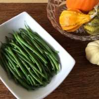 French Green Beans with Mustard Shallot Sauce