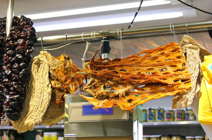 Dried fish, chiles and something else I can't identify
